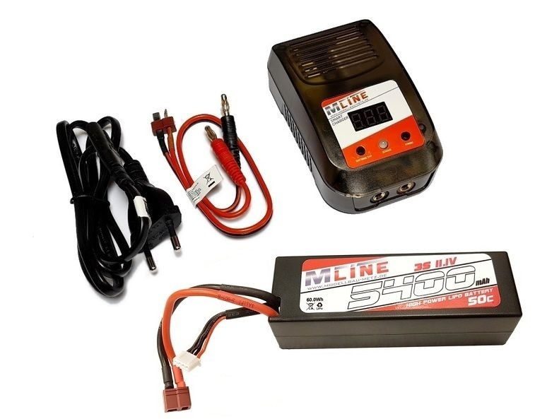 MLine Smart Charger AC 20W 3A --SPARSET-- inkl. LiPo 3S