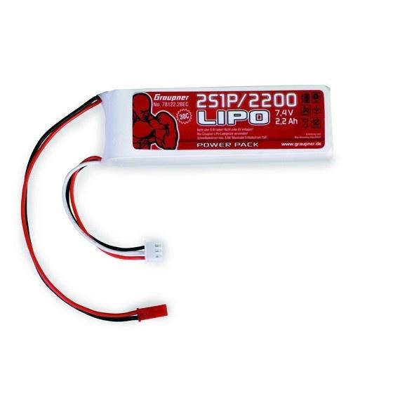 Graupner Power Pack LiPo 2S / 2200 mAh, 7,4 V, 30 C, BEC