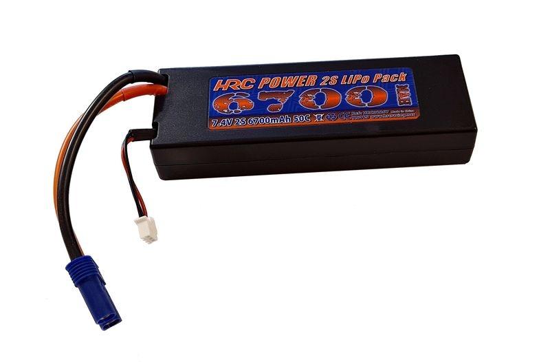 HRC Racing Akku - LiPo 2S - 7.4V 6700mAh 50C - RC Car -