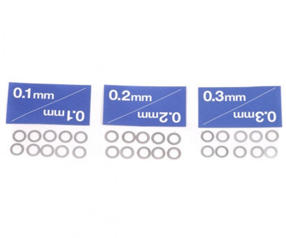 Tamiya Distanzscheiben-Set 5mm (10) 0,1/0,2/0,3