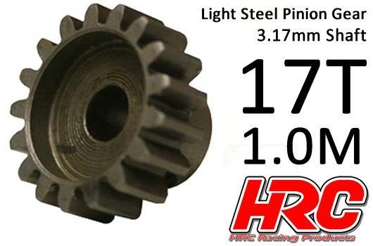 HRC Motorritzel - 1.0M / 3.17mm Achse - Stahl - Leicht - 17Z