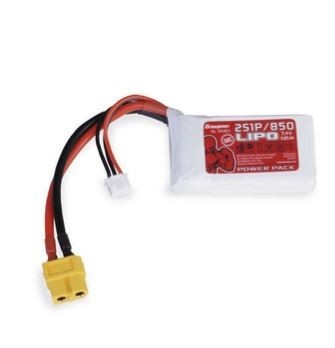 Graupner Power Pack LiPo 2S / 850 mAh, 7,4 V, 50 C, XT-60