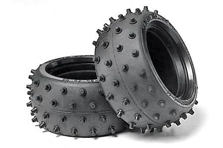 Tamiya Buggy Reifen (Spike) 1:10 38mm, 2 Stück