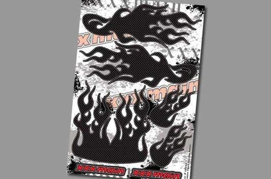 XXX Main Aufkleber - Carbon Fiber Flames