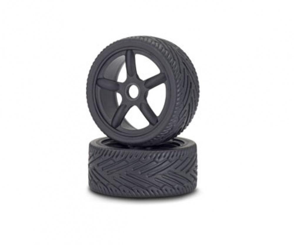 Carson RC 1:8 Reifen/Felgen-Set On-Road schwarz (2)
