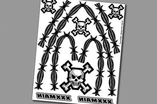 XXX Main Aufkleber - Interner Graphik - Barbed Wire