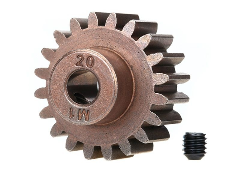 Traxxas Gear, 20-T pinion (1.0 metric pitch)(fits 5mm shaft)