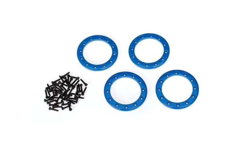 Traxxas Beadlock Rings Blau (1.9) Alu (4) + Schrauben