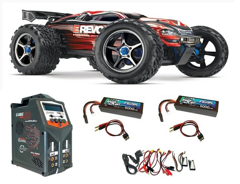Traxxas E-Revo Brushless 4WD Monster-Truck TQi 2.4GHz m.TSM