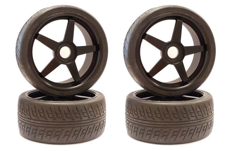 Kyosho Reifen 1:8 INFERNO GT mit schwarzen Felgen (4)