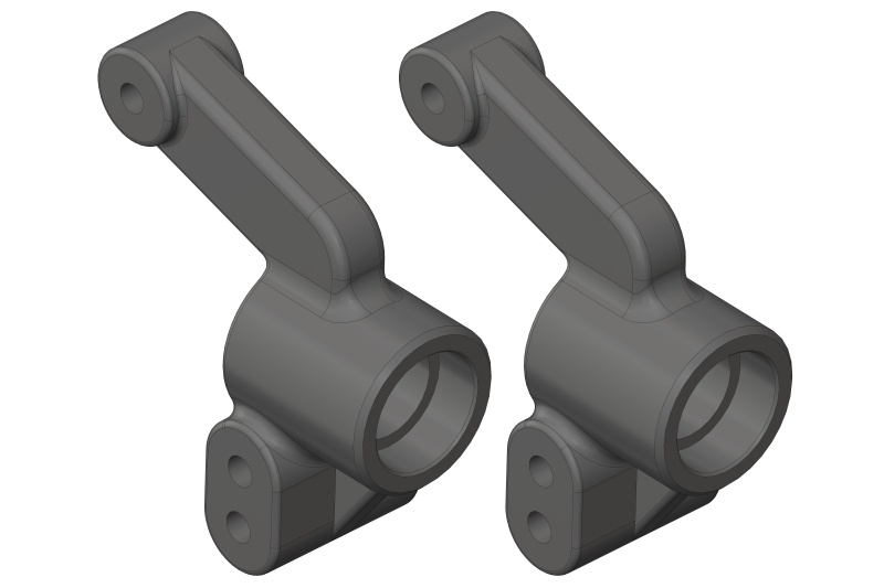 Team Corally Hub - Rear - Composite - 2 Pcs