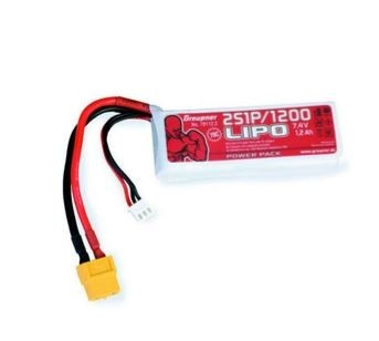 Graupner Power Pack LiPo 2S / 1200 mAh, 7,4 V, 70 C, XT-60