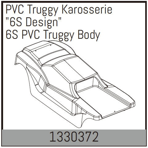 Absima PVC Truggy Karosserie 6S Design