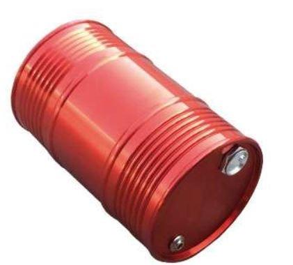 Amewi Öl-Tank rot groß, Aluminium 1:10
