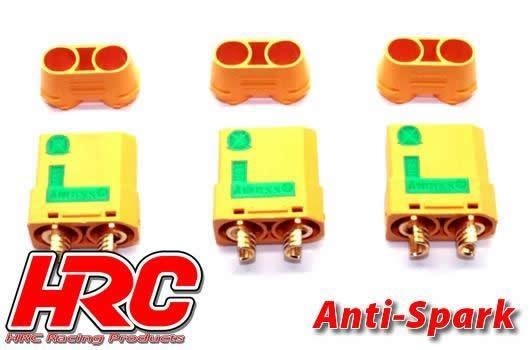 HRC Racing Stecker - Gold - XT90 - weibchen Anti-Spark