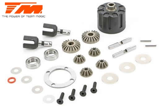 Team Magic Spare Part - E5 - Complete Differential Kit (F/R)