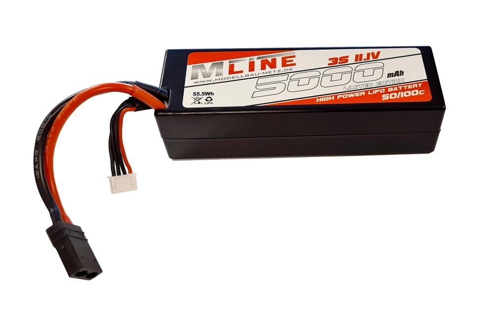 MLine High Power LiPo Akku 50/100C 3S 11,1V 5000mAh TRX