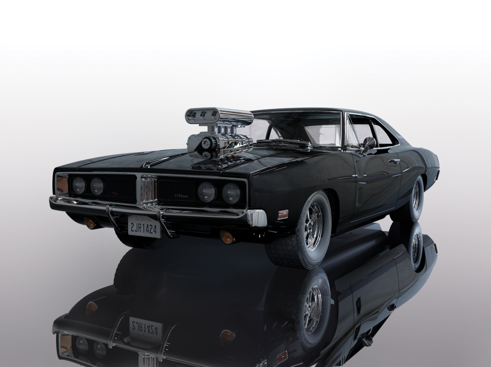 Scalextric 1:32 Dodge Charger SC Schwarz FF HD
