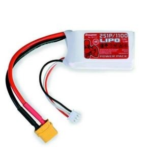 Graupner Power Pack LiPo 2S / 1100 mAh, 7,4 V, 70 C, XT-60