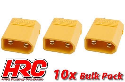 HRC Racing Stecker - Gold - XT30 - männchen (10 Stk.)