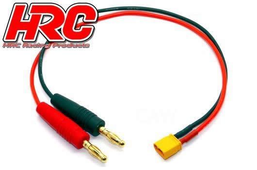 HRC Racing Ladekabel - Gold - Banana Plug zu XT30 Stecker