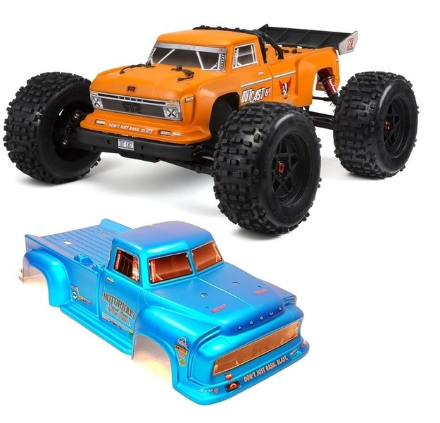 Arrma Outcast 6S BLX 4WD Stunt Truck 2.4GHz RTR 1:8 orange