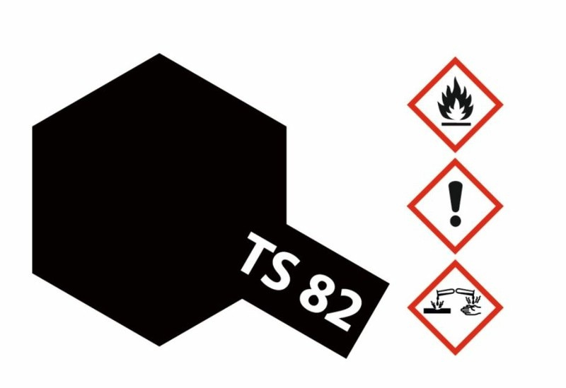 Tamiya Acryl-Sprühfarbe TS-82 Gummi-Schwarz matt 100ml