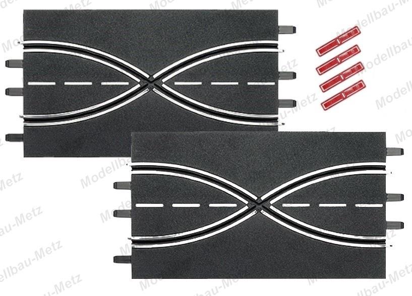 Carrera Evol./Excl./Pro-x/D 132 2x Spurwechsel 34,5 cm