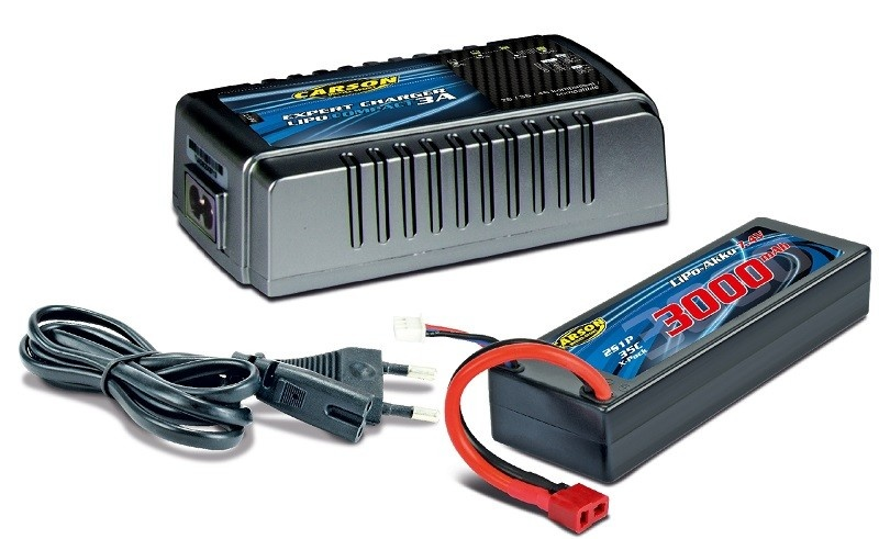 Carson Expert Charger LiPo Compact 3A Lade-Set incl. Akku