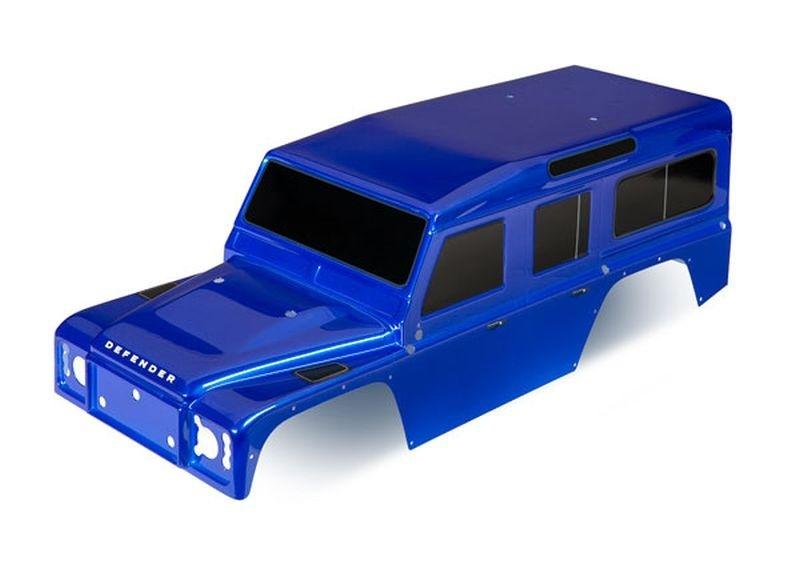 Traxxas Karo, Land Rover Defender, blau + Decals