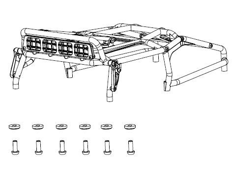 Carson MC-10 Überrollkäfig mit LED-Halterung 1:10