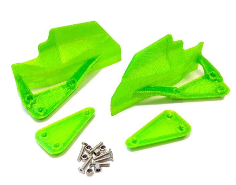 JS-Parts Mudguards unbreakable für Team Magic E6 grün