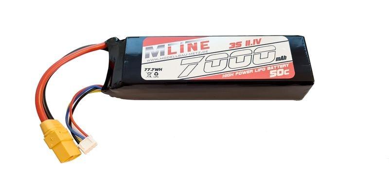 MLine High Power LiPo Akku 50C 3S 11.1V 7000mAh XT90