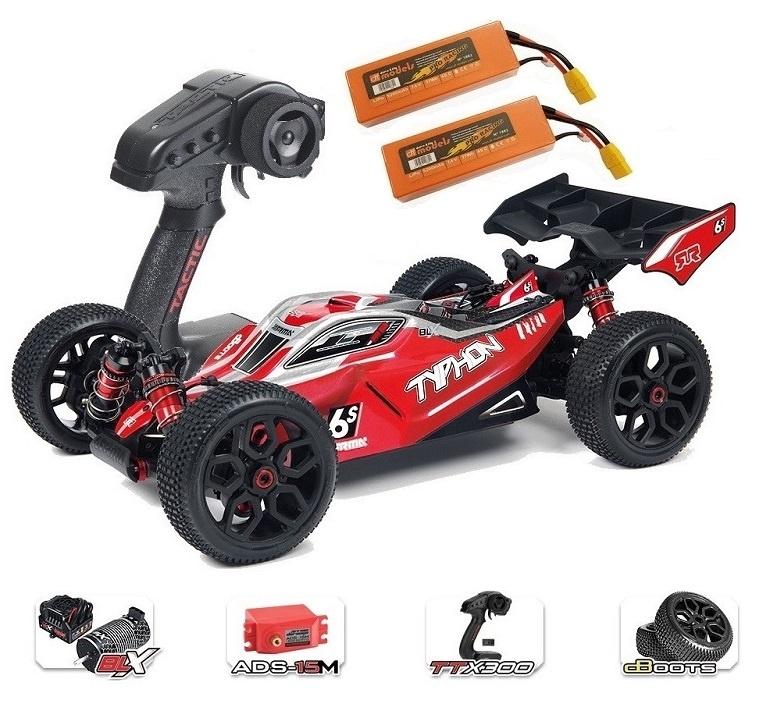 ARRMA TYPHON 6Sv2 BLX 4WD Race Buggy 1/8 RTR - SPARSET 5 -