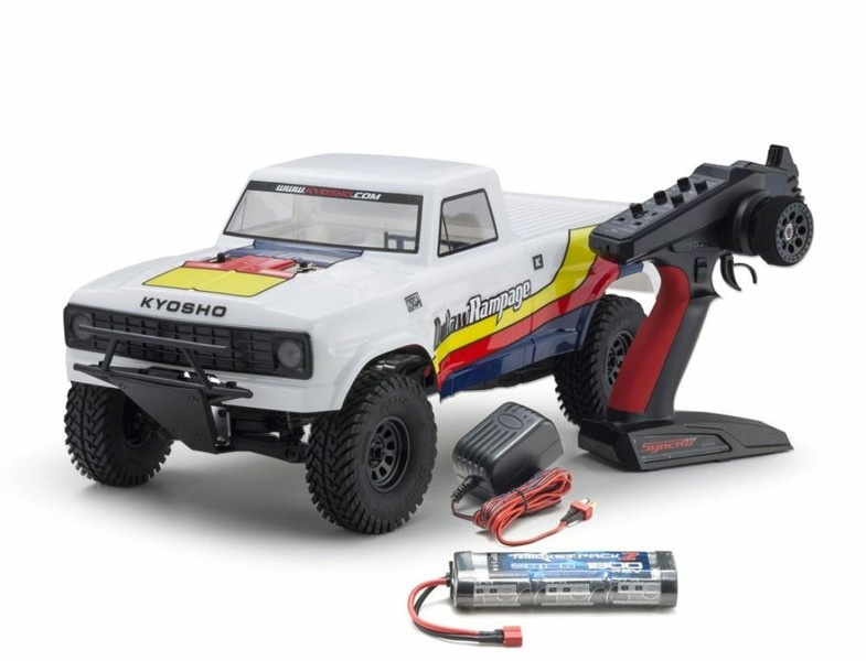 Kyosho Outlaw Rampage EP 2WD Truck (KT231P)T1 Weiss RTR 1:10