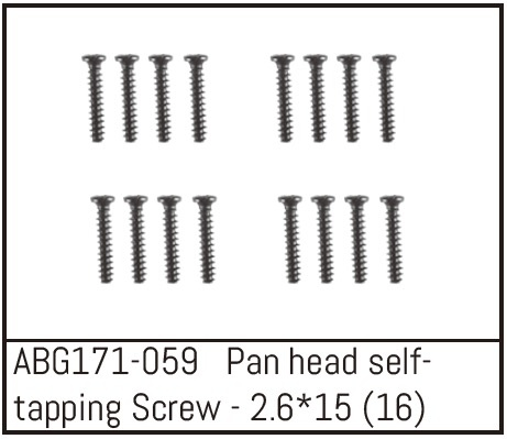 Absima Pan Head Screw M2.6*15 (16)