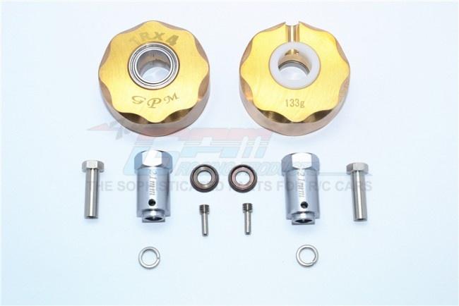 GPM brass pendulum wheel knuckle axle weight +23mm hex