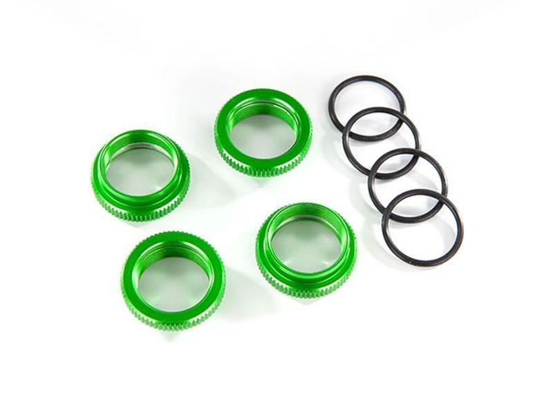 Traxxas Federteller Alu grün GT-Maxx (4) (mit O-Ring)