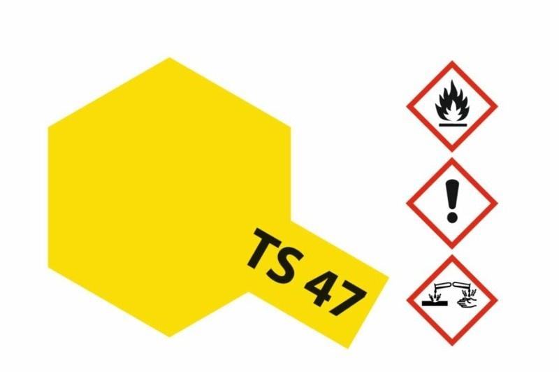 Tamiya Acryl-Sprühfarbe TS-47 Chromgelb glänzend 100ml