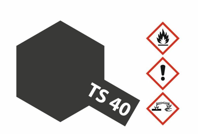 Tamiya Acryl-Sprühfarbe TS-40 MetallicSchwarz glänzend 100ml