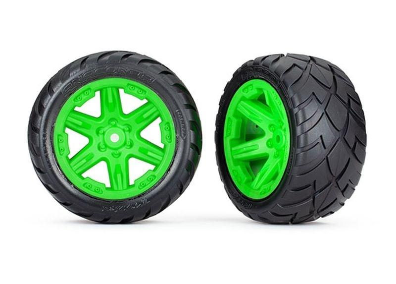 Traxxas Reifen auf Felge 2.8 RXT grün / Anaconda