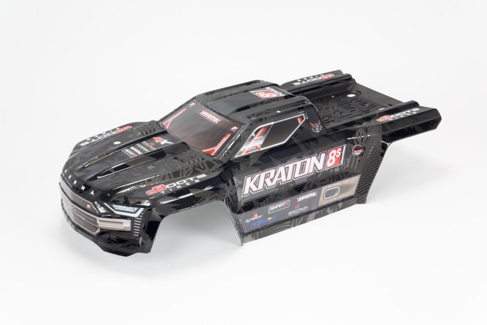Arrma KRATON 8S Finished Body (Black) (ARA409008)