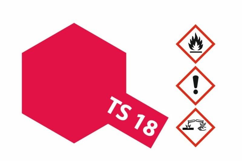 Tamiya Acryl-Sprühfarbe TS-18 Metallic Rot glänzend 100ml