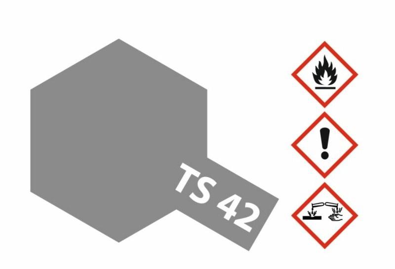 Tamiya Acryl-Sprühfarbe TS-42 HellGunMetall seidenmatt 100ml