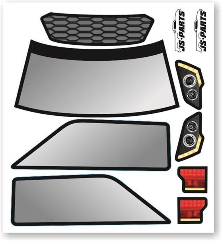 JS-Parts SE Karosserie-Decals für Probodyrc Body