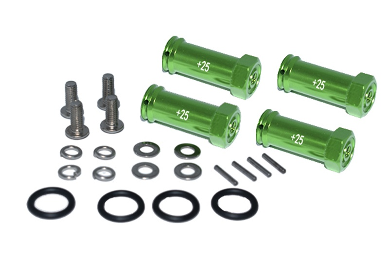 GPM alloy hex adaptor(+25mm) - 4PCS Set for Traxxas Revo