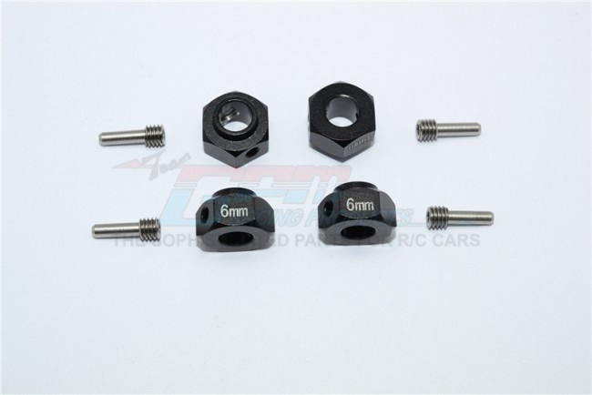 GPM aluminium hex adapters 6mm thick - 8PC Set for Traxxas