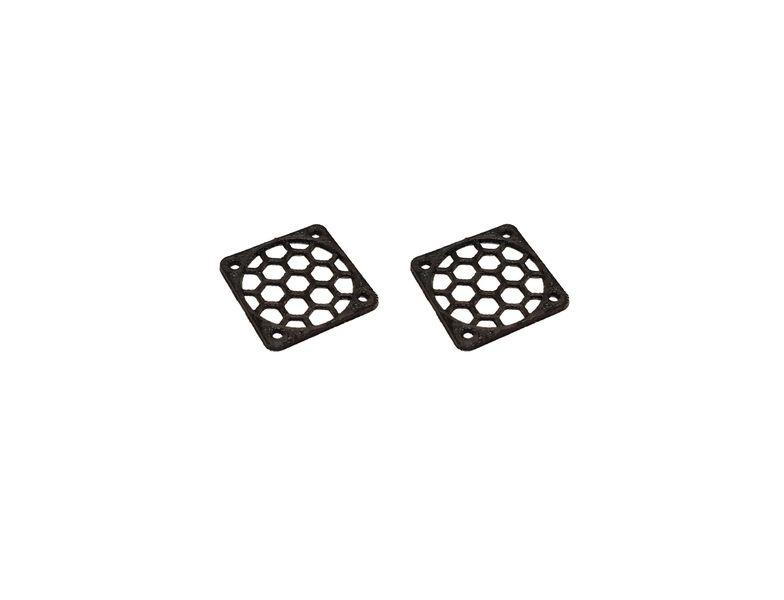 JS-Parts Lüftergitter 25mm / 2 Stück (Set) schwarz