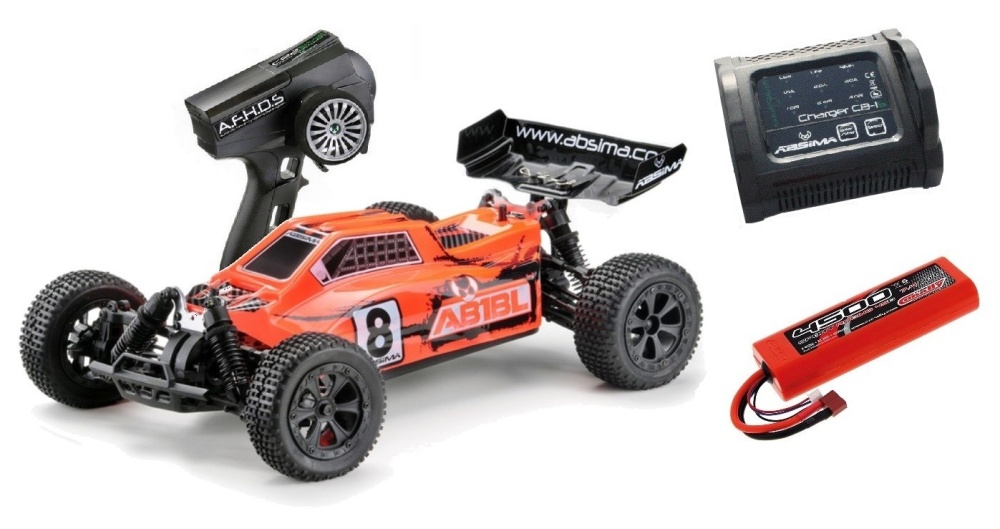 Absima EP Buggy AB1BL 4WD Brushless RTR 1:10 - SPARPAKET -