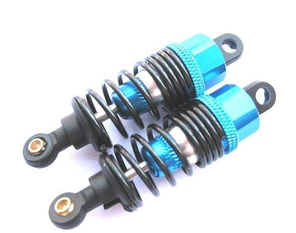 Monstertronic 67mm Alu Stossdämpfer blau 1:10 (2)
